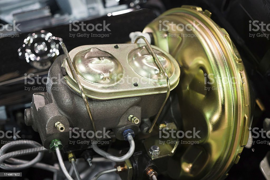 Car Brake Master Cylinder stock photo