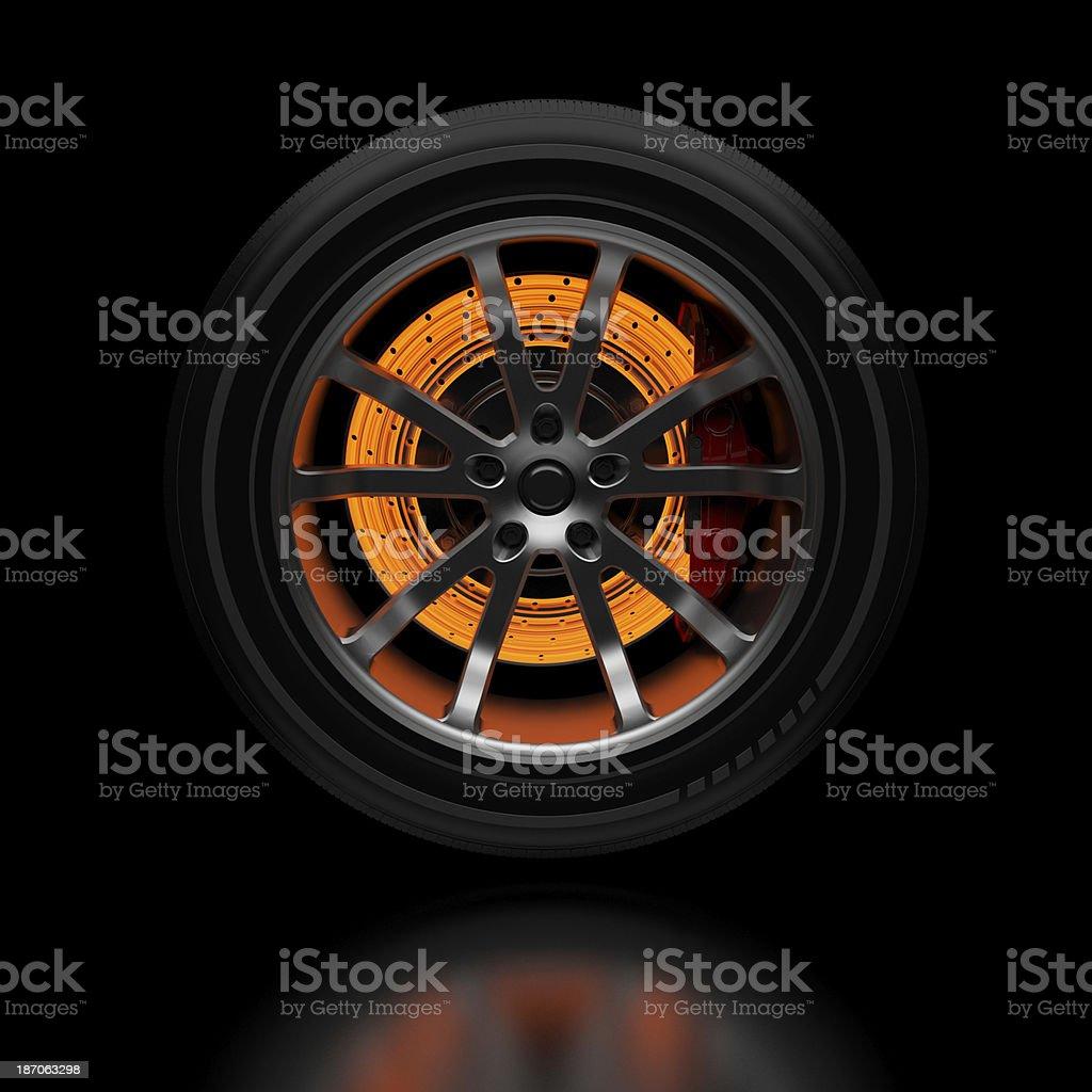 Car Brake stock photo