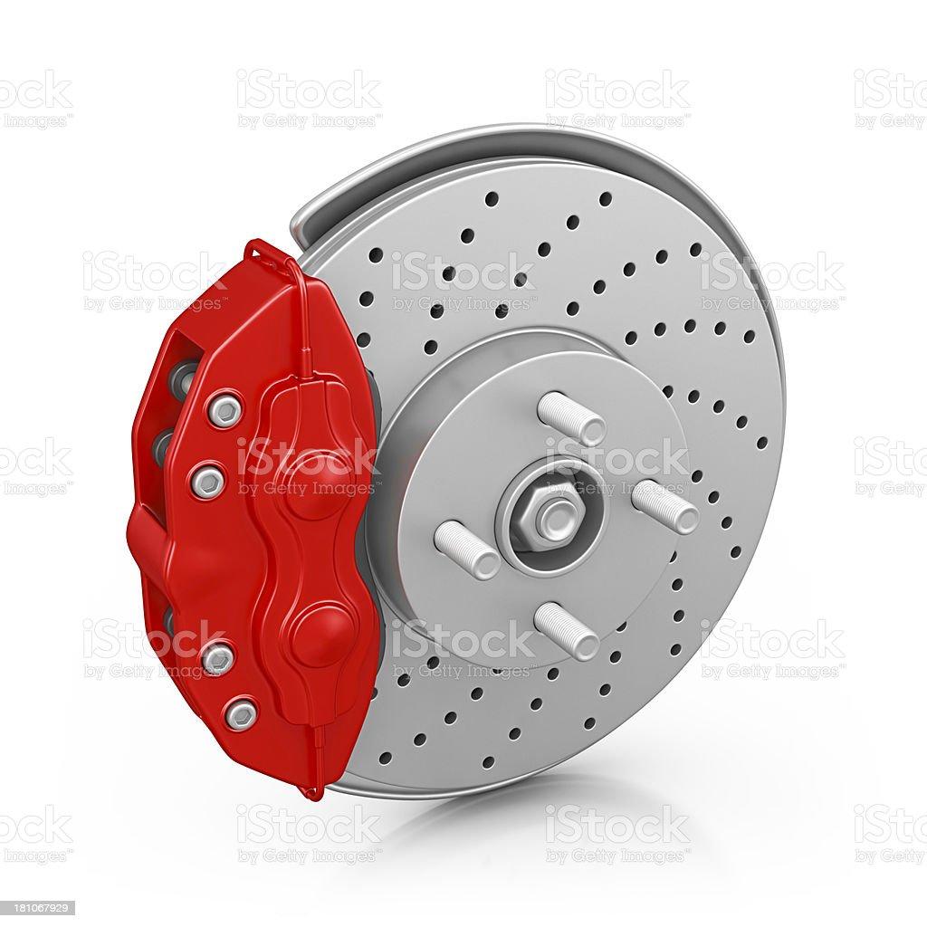 car brakes stock photo