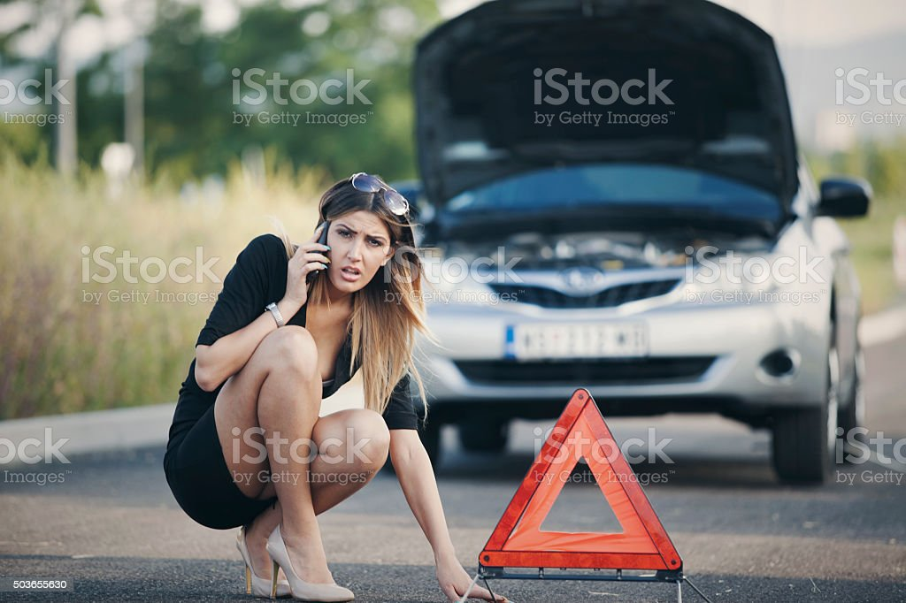 car break down stock photo