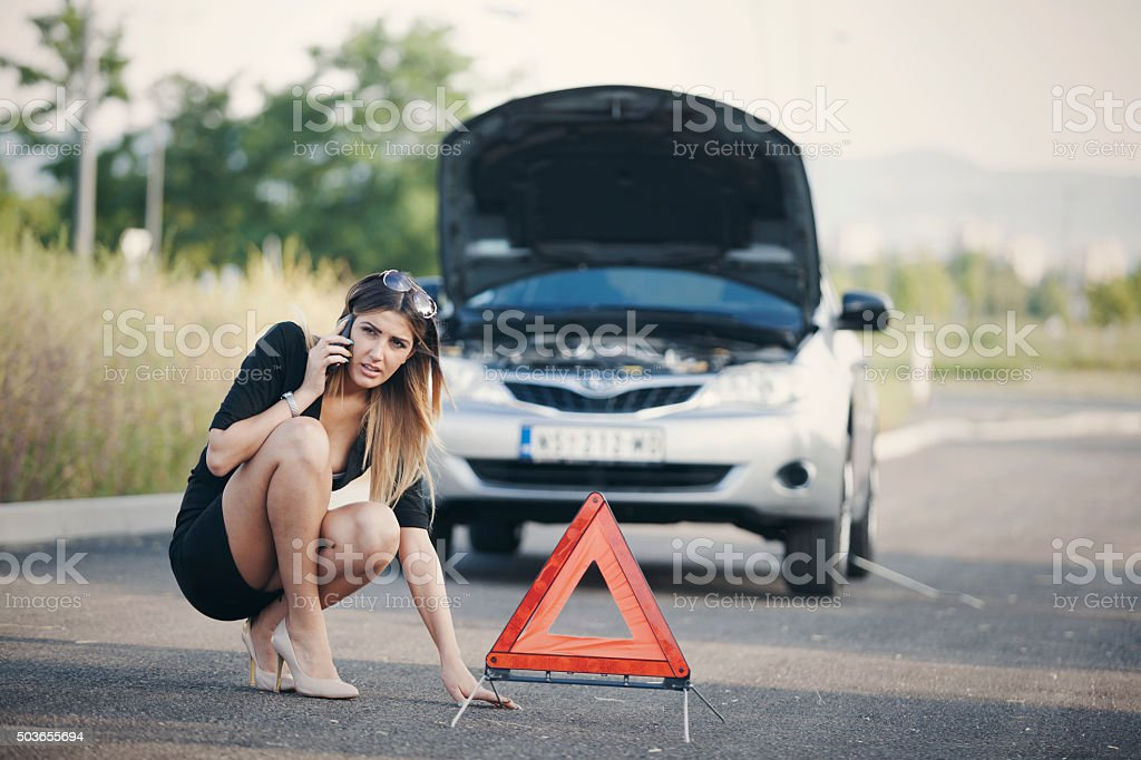 car break down stock photo