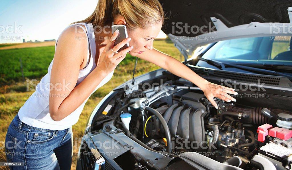 Car breakdown. stock photo