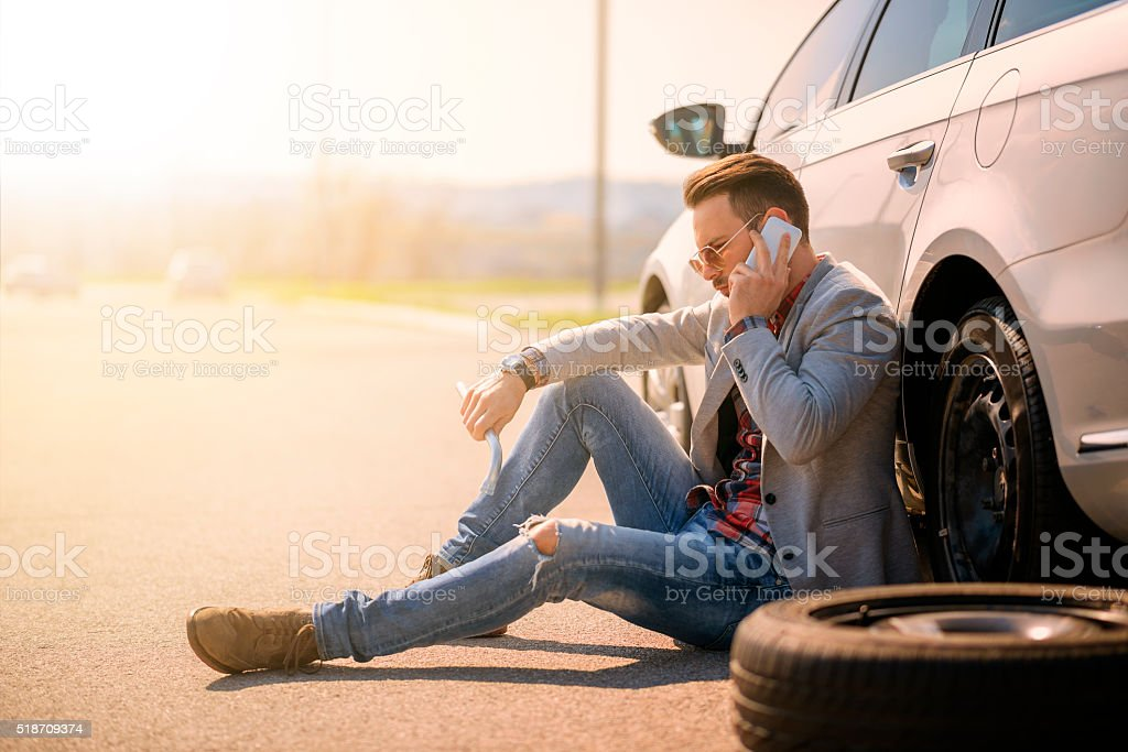 Car breakdown stock photo