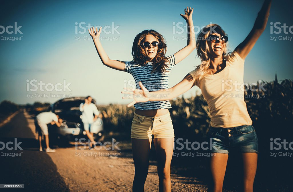 Car breakdown situation. stock photo