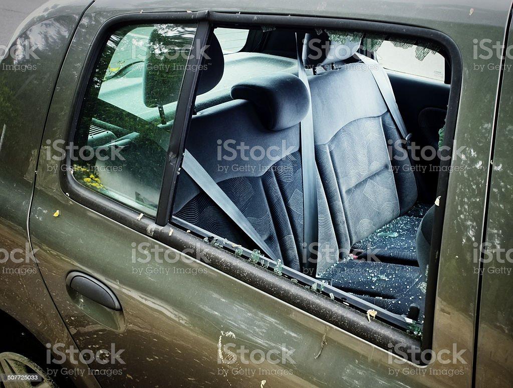 Car break-in royalty-free stock photo