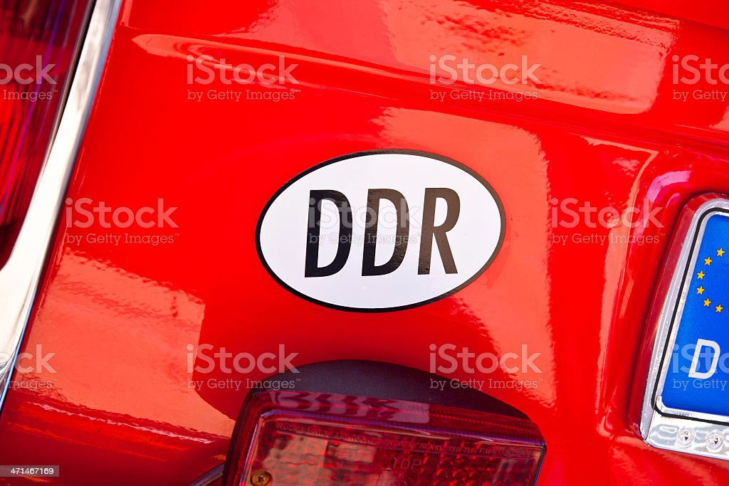 DDR Car Bumper Decal stock photo