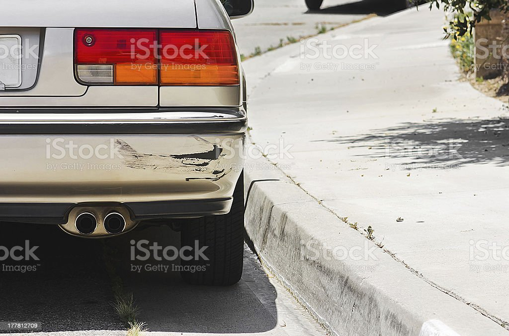 Car Bumper Swiped stock photo