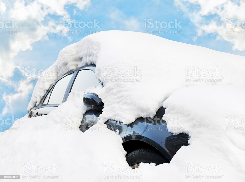 Car Buried in Snow royalty-free stock photo