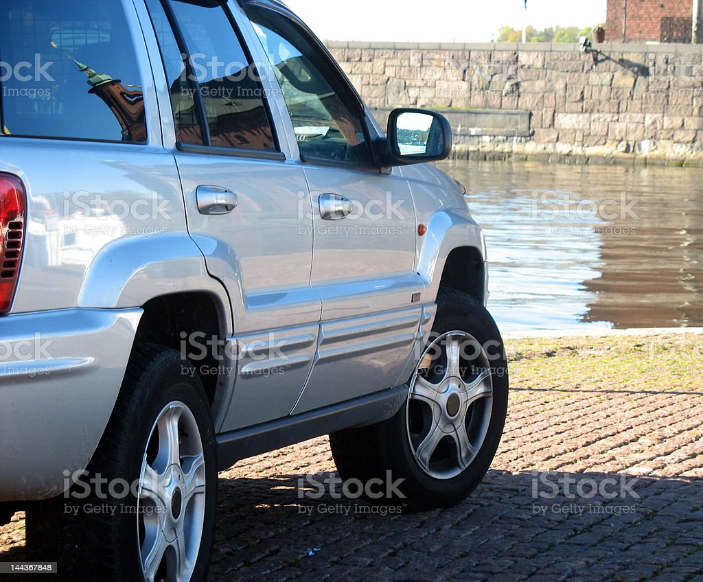 Car by the water royalty-free stock photo
