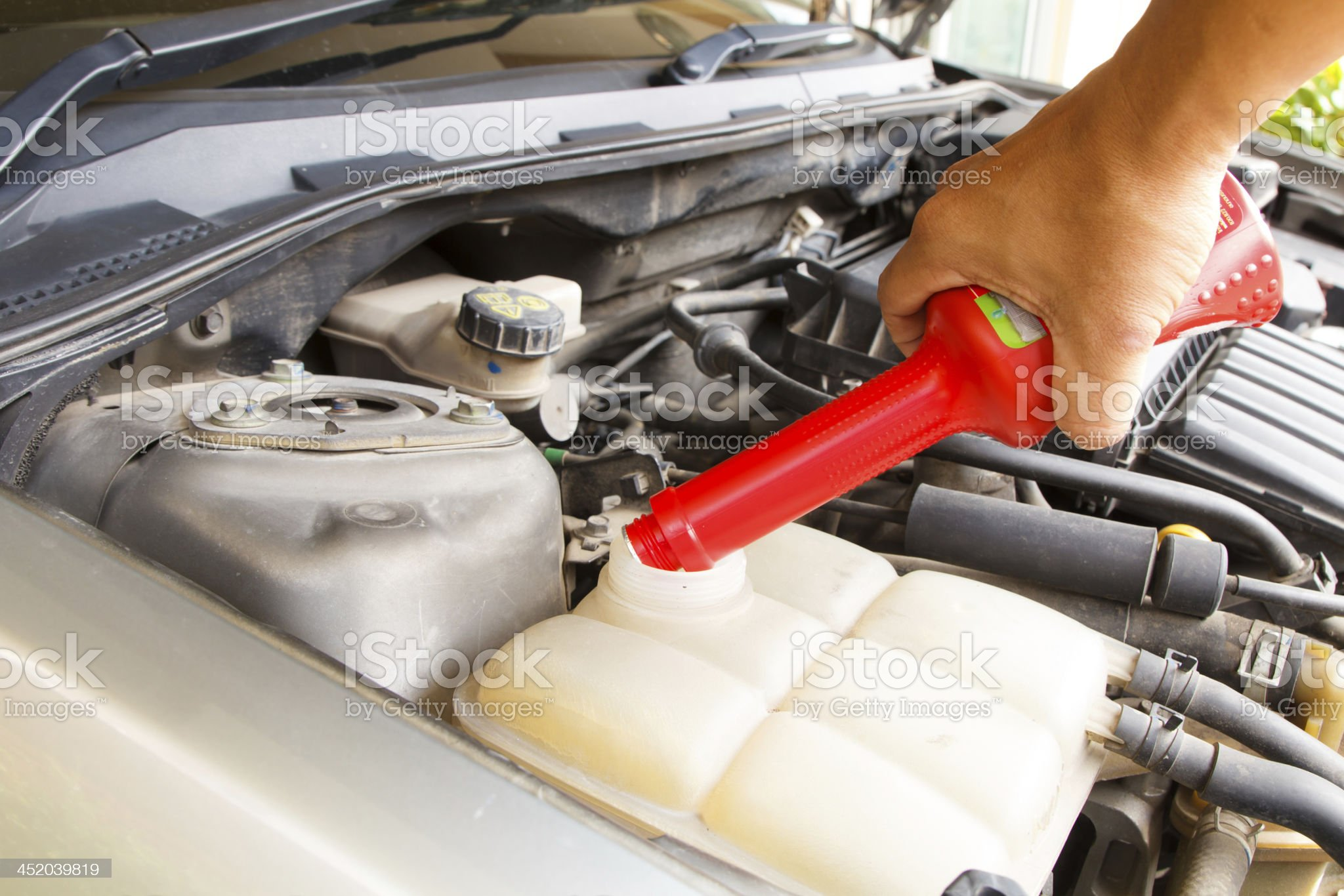 Car care as radiator check-2 royalty-free stock photo