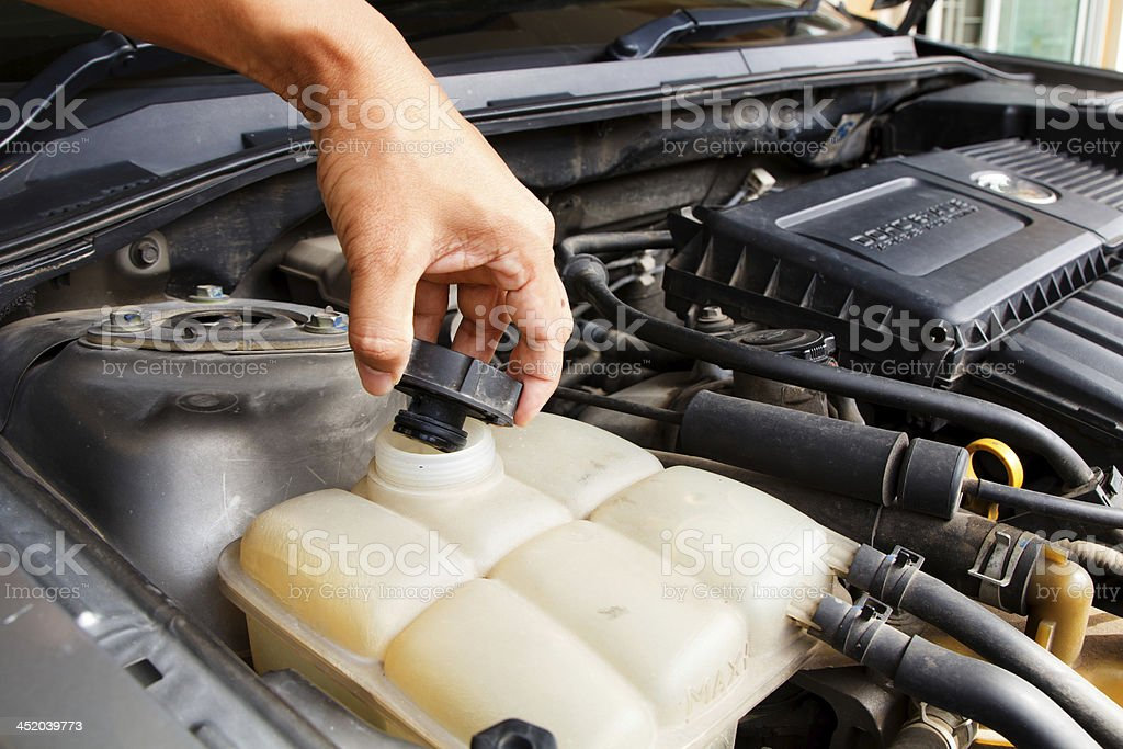 Car care as radiator royalty-free stock photo