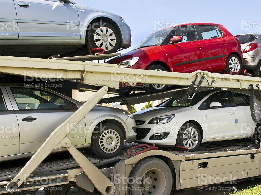Car Carrier stock photo