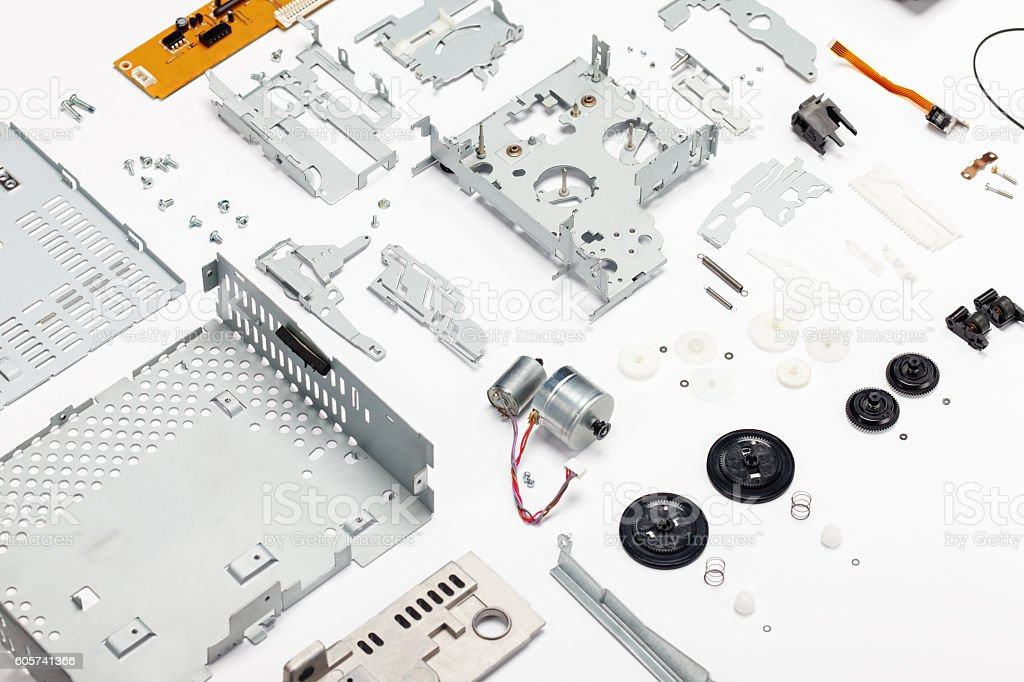 Car cassette player parts stock photo