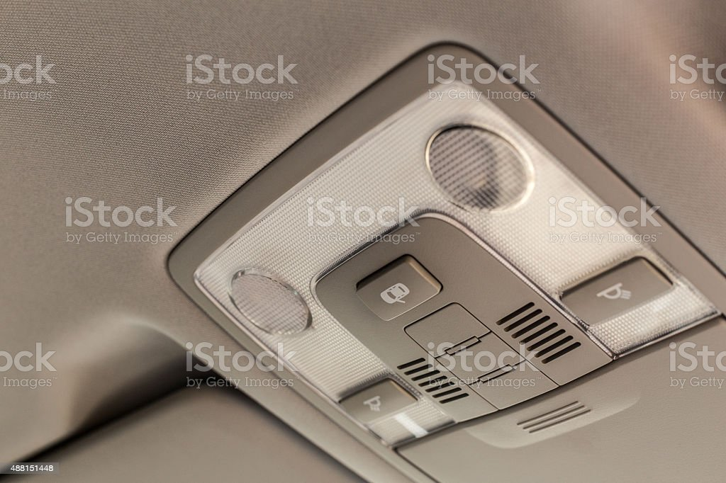 Car ceiling lamp stock photo