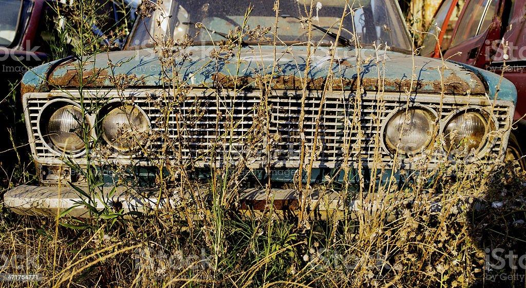 car cemetery royalty-free stock photo