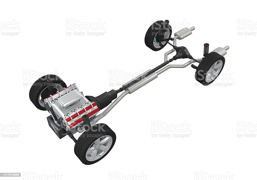 Car Chassis Isolated stock photo