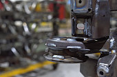 Car chassis welding in parts factory