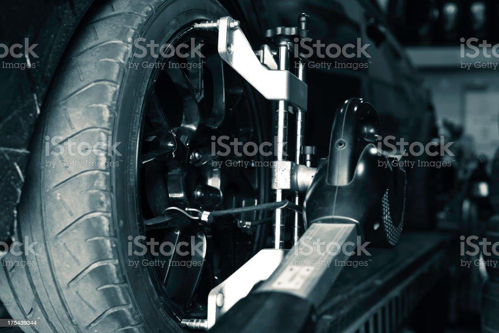 car checking royalty-free stock photo