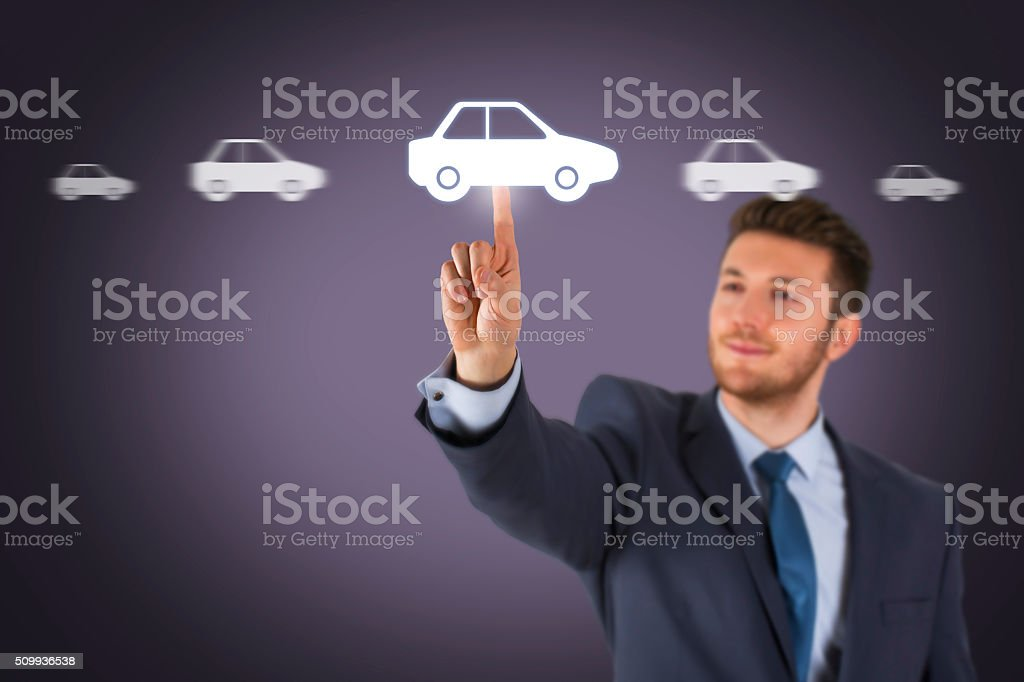 Car Choice on Screen stock photo