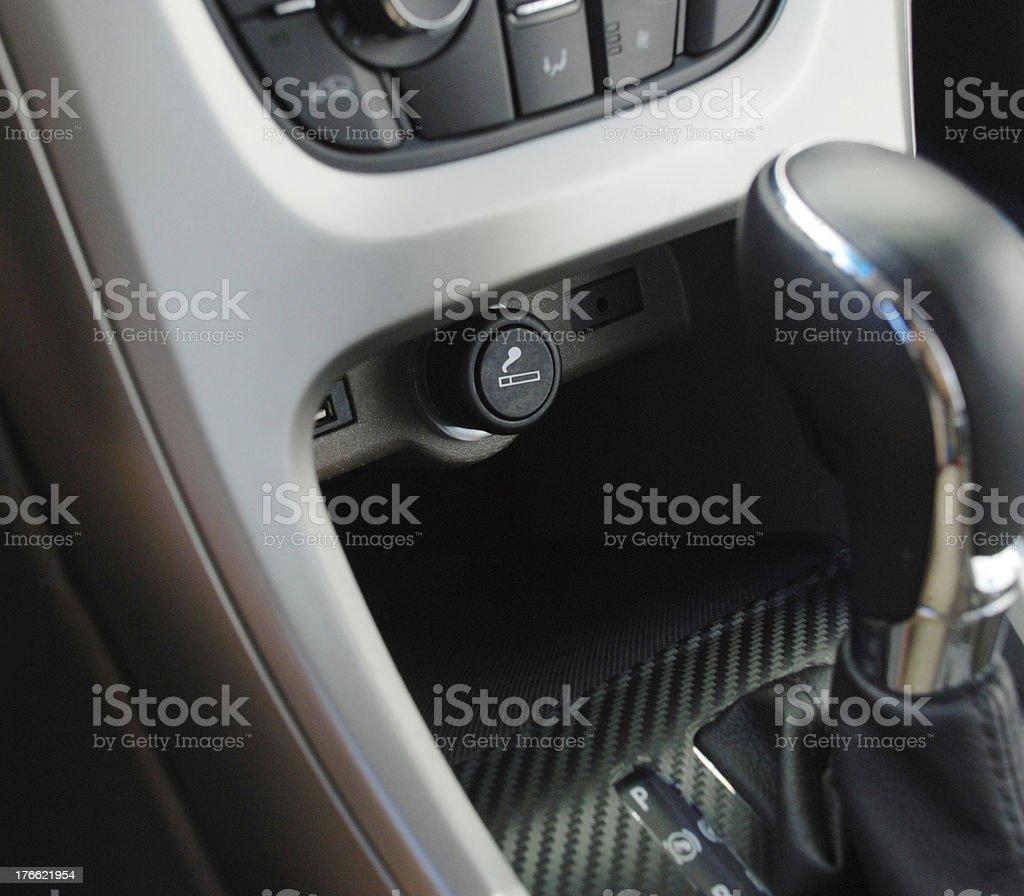 car cigarette lighter stock photo