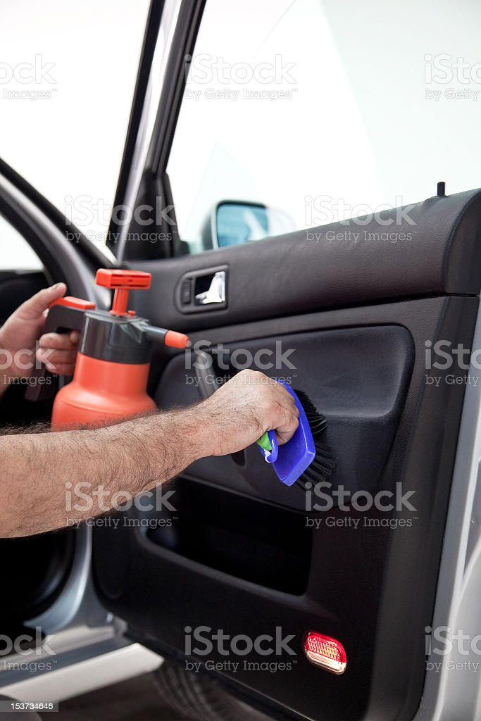 car cleaning royalty-free stock photo