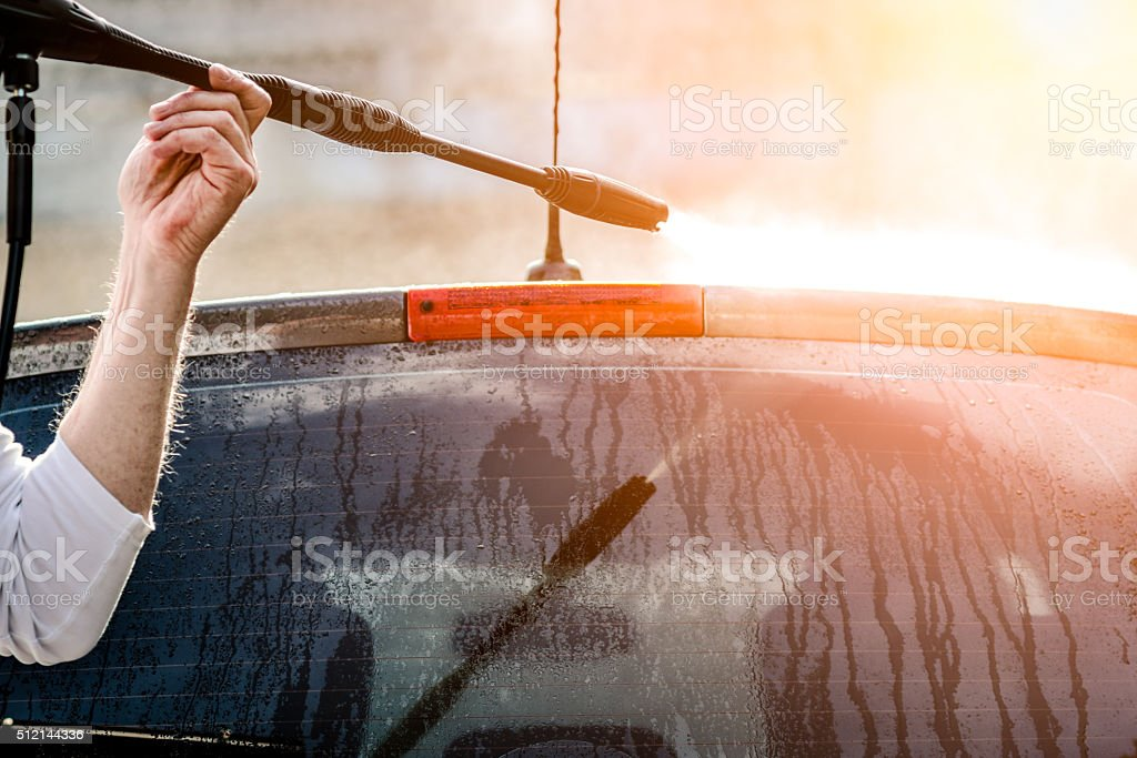 Car cleaning stock photo