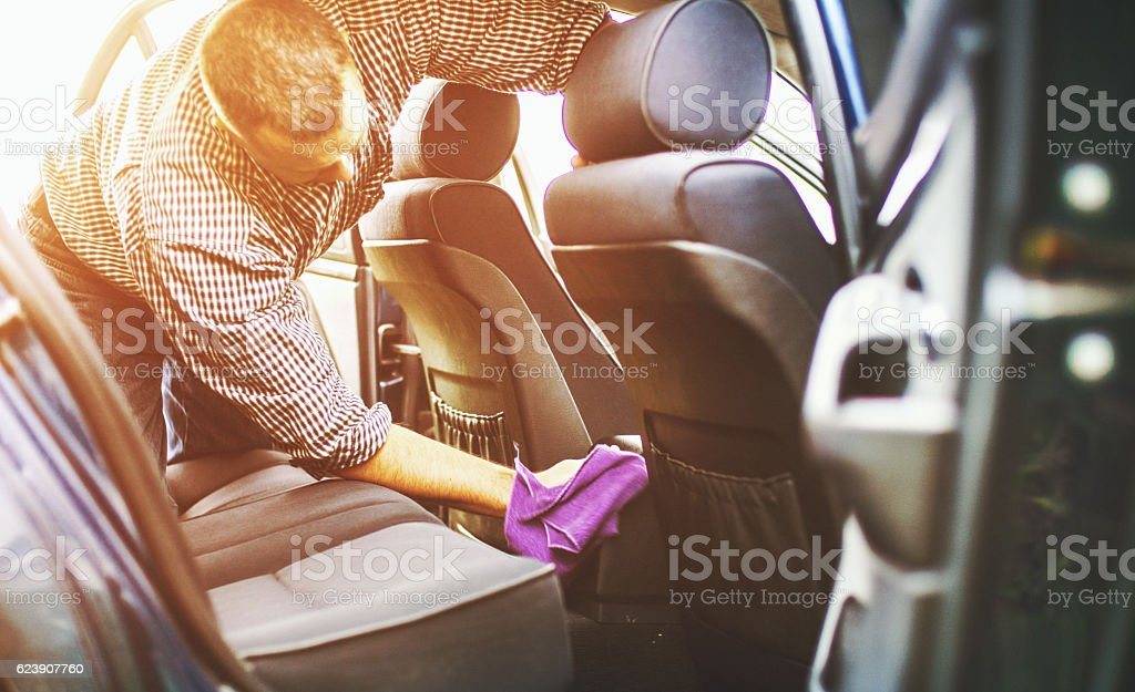 Car cleaning. stock photo