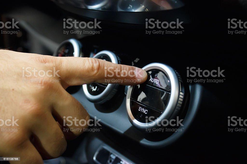 Car climate control panel stock photo