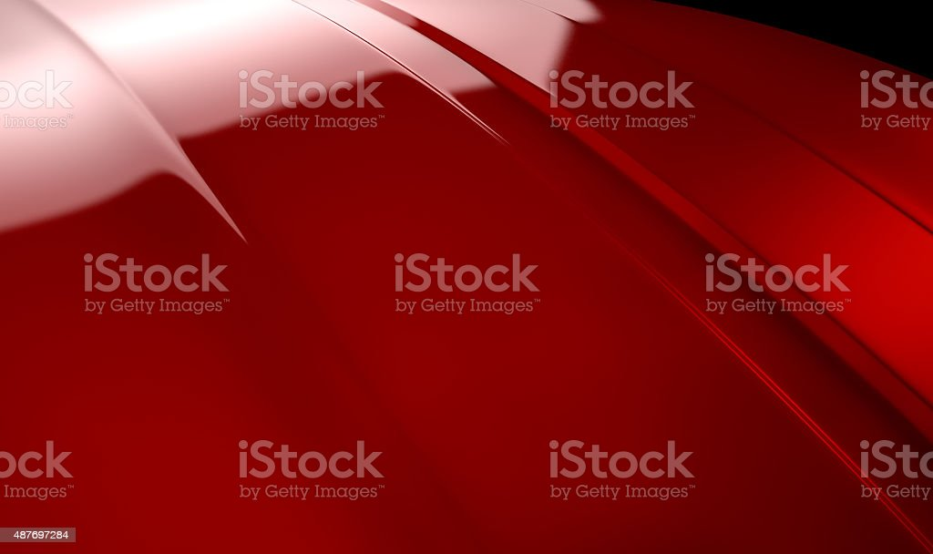 Car Contour Cherry Red stock photo