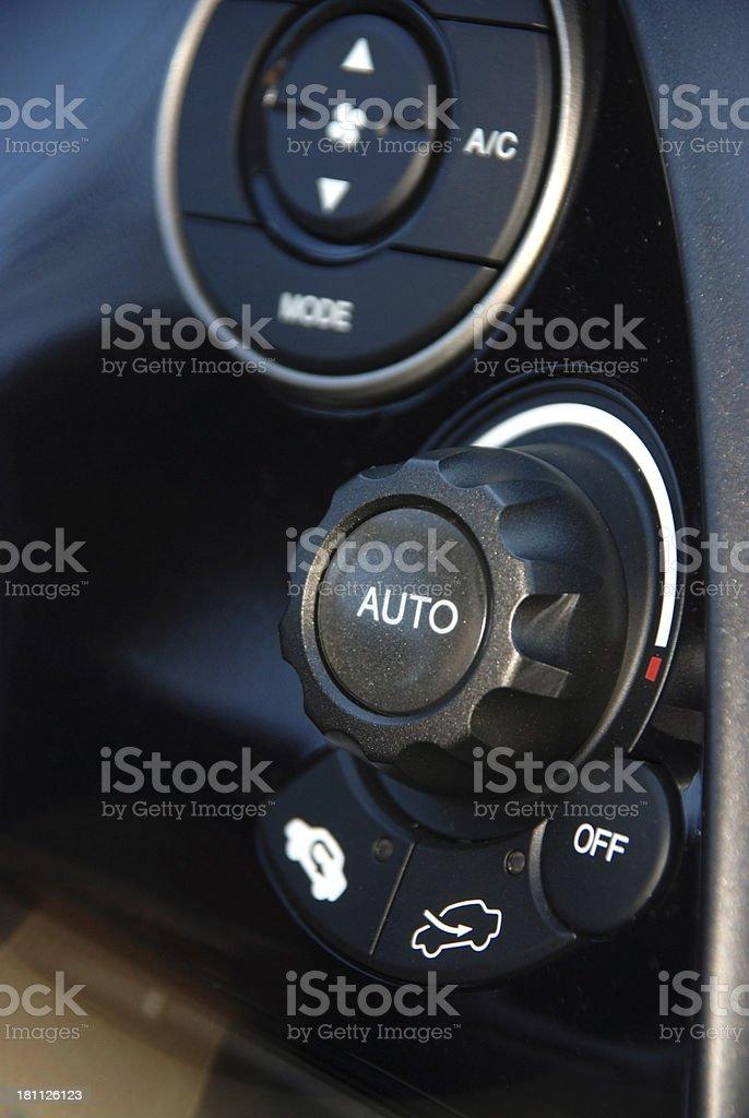 Car control panel stock photo