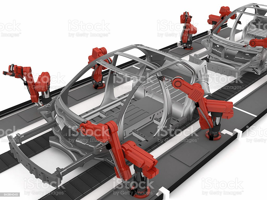 Car Conveyor royalty-free stock photo