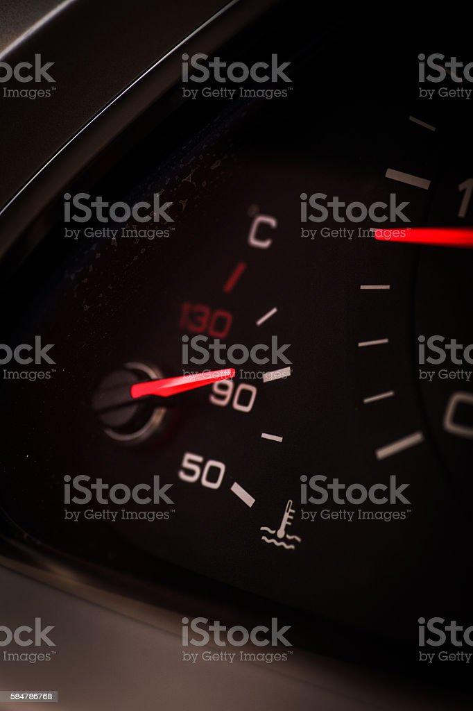 Car coolant warning stock photo