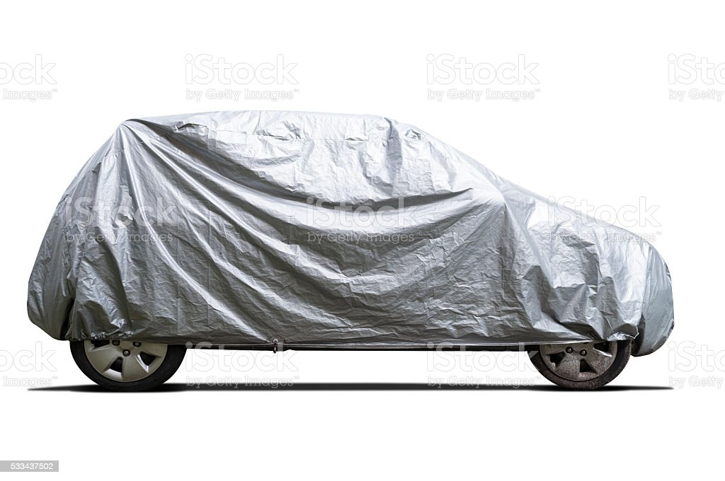 Car covered stock photo