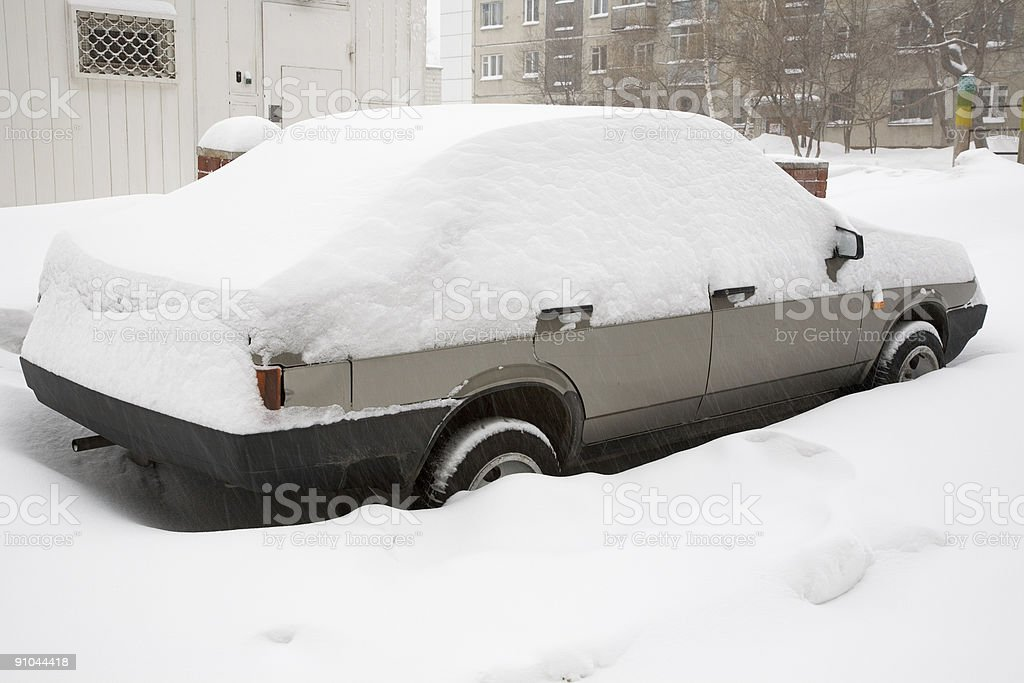 Car covered snow royalty-free stock photo