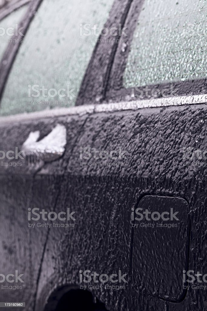 Car covered with ice royalty-free stock photo