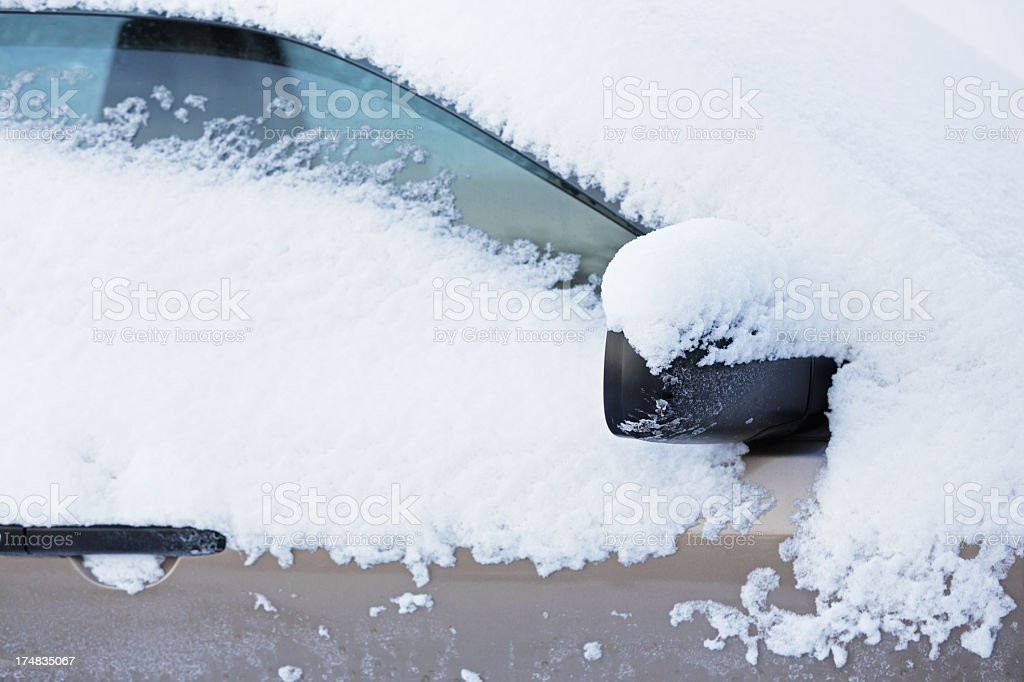 Car Covered With Snow stock photo