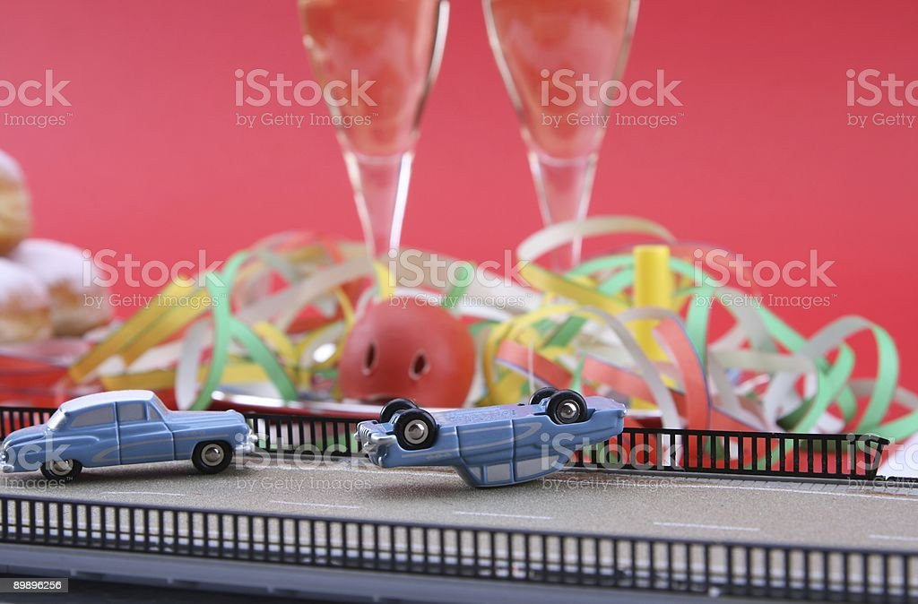 Car Crash because of Carnival Alcohol stock photo