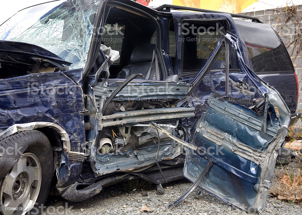 Car Crash by Drunk Driving Accident stock photo