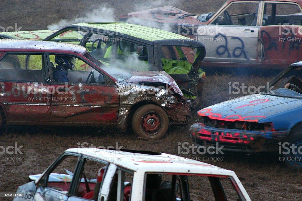 Car crash, demolition derby royalty-free stock photo