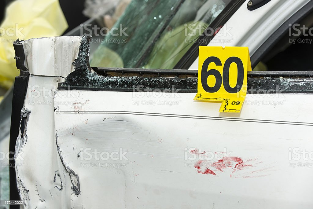 Car crash door evidence royalty-free stock photo