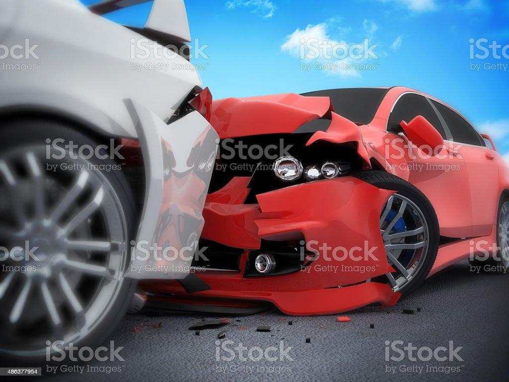 Car crash stock photo