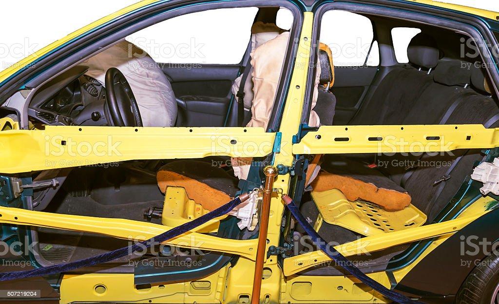 Car Crash Test stock photo