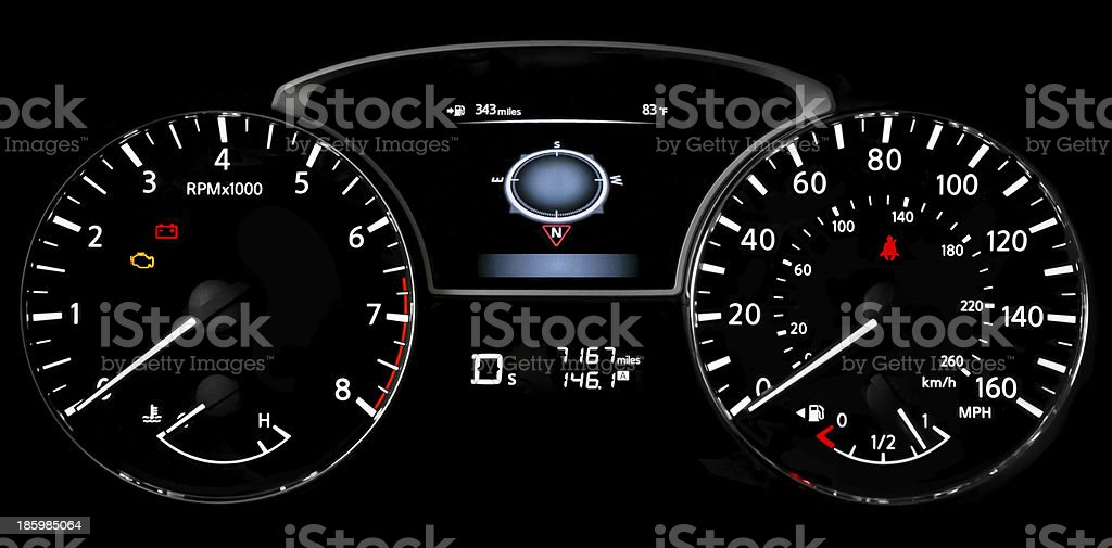 Car Dash Lights royalty-free stock photo