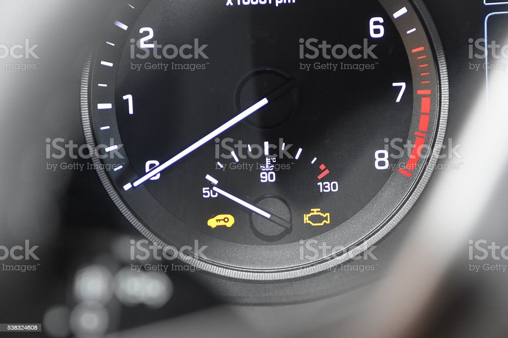 Car Dash Lights stock photo