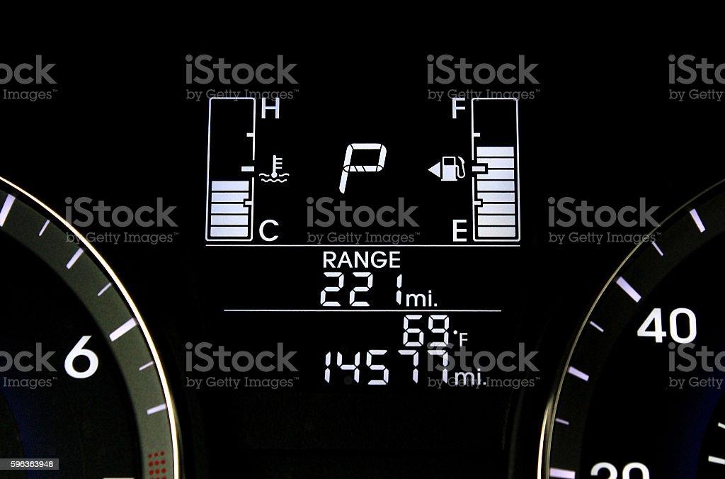 car dash stock photo