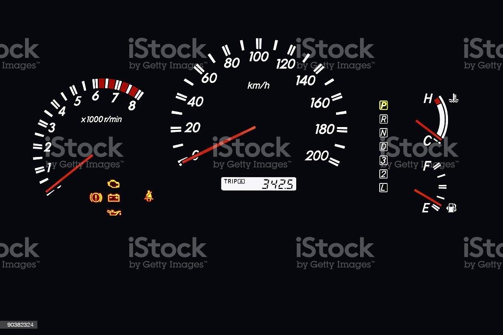car dashboard 2 stock photo
