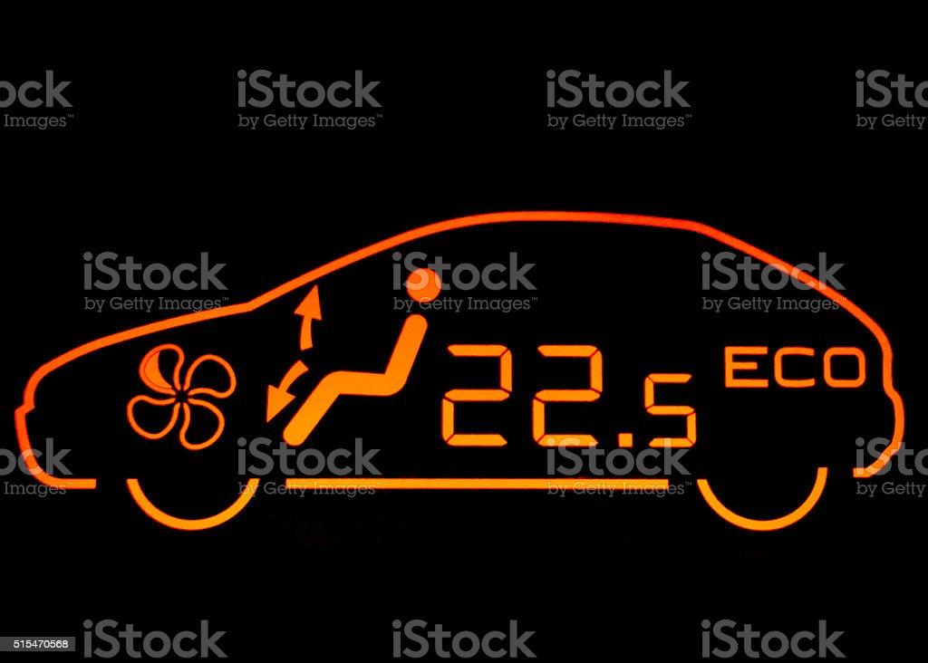 Car Dashboard Air Condition stock photo