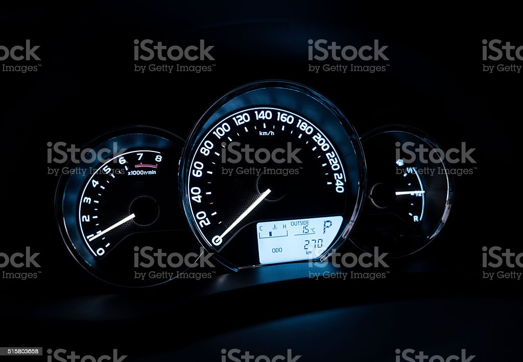 Car dashboard background stock photo