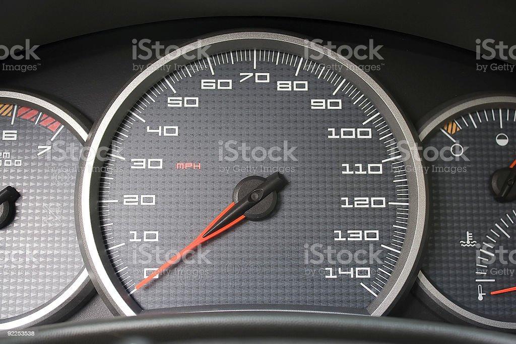 Car Dashboard Gauges royalty-free stock photo