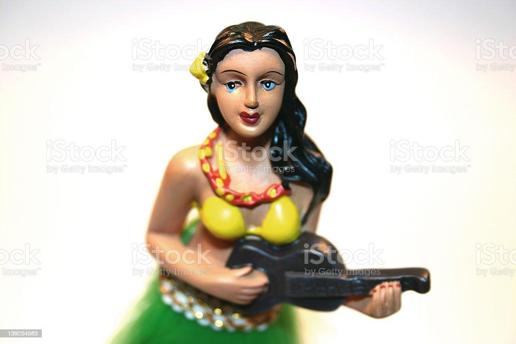 Car Dashboard Hula Girl stock photo